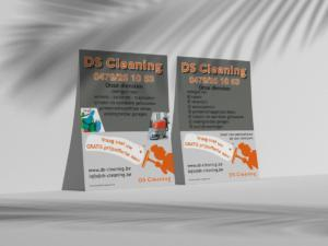 DS cleaning Flyer Mockup PSD