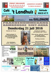 affiche paardenommegang 06-2016 FB